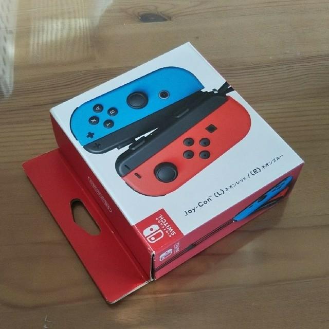 Nintendo Switch(ニンテンドースイッチ)のNintendo SWITCH ジョイコン(L)(R) ネオンレッドネオンブルー エンタメ/ホビーのゲームソフト/ゲーム機本体(家庭用ゲーム機本体)の商品写真