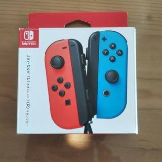 ニンテンドースイッチ(Nintendo Switch)のNintendo SWITCH ジョイコン(L)(R) ネオンレッドネオンブルー(家庭用ゲーム機本体)