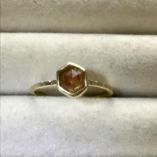 リング(レッドヘキサゴン.ナチュラルダイヤモンドリング)(リング(指輪))