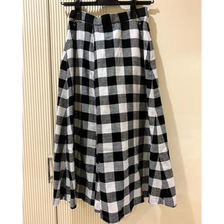 プラステ(PLST)の定価1万以上【新品タグ付】PLST ギンガムチェック スカート(ひざ丈スカート)
