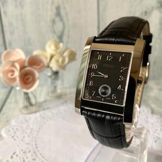 フェンディ(FENDI)の【動作OK】FENDI フェンディ 腕時計 7000G レクタンギュラ ブラック(腕時計(アナログ))
