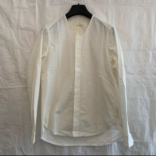 Paul Harnden - 新品未使用 Araki Yuu ノーカラーシャツ ホワイト サイズ0
