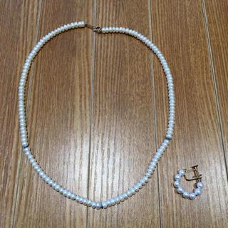 K18刻印パールネックレス K18刻印パールイヤリング(92016113)(ネックレス)