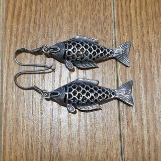 925刻印 魚モチーフシルバーピアス(90016343)(ピアス)