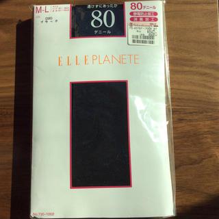 エルプラネット(ELLE PLANETE)のタイツ 黒 80デニール(タイツ/ストッキング)