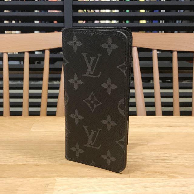 LOUIS VUITTON - 美品 ルイヴィトン エクリプス iPhone フォリオ X XS スマホカバーの通販