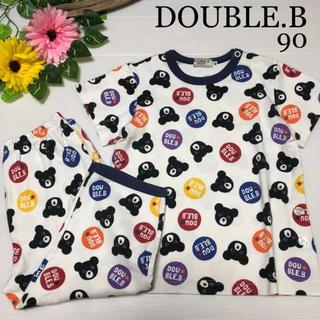 ダブルビー(DOUBLE.B)のミキハウス ダブルビー 半袖 パジャマ 90 春 夏 ファミリア (パジャマ)