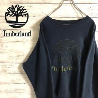 Timberland - 【激レア】ティンバーランド☆刺繍ビッグロゴ ビックシルエット ゆるだぼスウェット