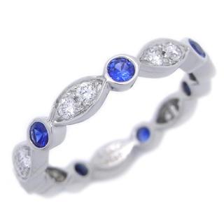 ティファニー(Tiffany & Co.)の★TIFFANY&Co. ティファニー★ジャズ ダイヤモンド サファイア リング(リング(指輪))