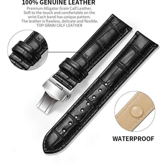 腕時計 ベルト 革 Dバックル【新品】の通販