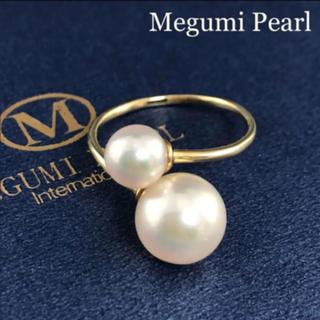 ◆新作◆ K18YG あこや真珠ダブルパールフリーリング(リング(指輪))