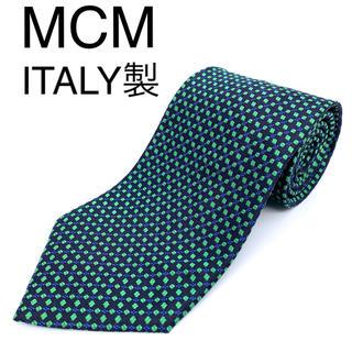 エムシーエム(MCM)の美品 MCM エムシーエム ネクタイ イタリア製 ピュアシルク100%(ネクタイ)