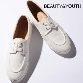 BEAUTY&YOUTH UNITED ARROWS - 《限定》 BEAUTY&YOUTH デッキ スニーカー