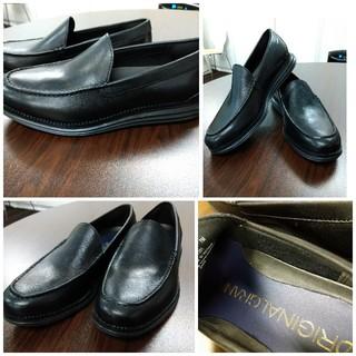 コールハーン(Cole Haan)の新品 試し履きのみ コールハーン ローファー7Mメンズ 黒 レザー25cm(ドレス/ビジネス)