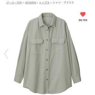 ジーユー(GU)のコーデュロイオーバーサイズシャツ(シャツ/ブラウス(長袖/七分))