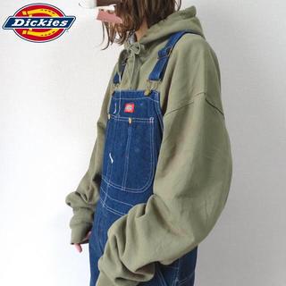 Dickies - 90s ディッキーズ オーバーオール サロペット 濃紺 古着女子