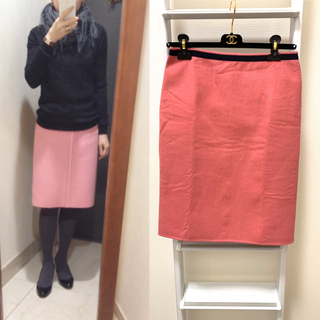 ドゥロワー(Drawer)の定価65000円 drawer ドゥロワー リバーシブル スカート 38(ひざ丈スカート)
