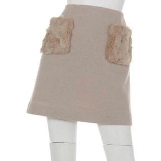 ビーラディエンス(BE RADIANCE)のファーポケットスカート(ミニスカート)