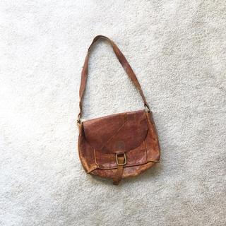 マーガレットハウエル(MARGARET HOWELL)の革製 ショルダーバッグ レザー  オブジェ ビンテージ(ショルダーバッグ)