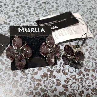 ムルーア(MURUA)のMURUA ムルーア アクリルストーンピアス&リング セット(ピアス)