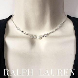 ラルフローレン(Ralph Lauren)のRalph Lauren 可憐なパールとクリスタルのショートネックレス(ネックレス)