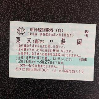 新幹線チケット 東京↔︎ 静岡 1枚(鉄道乗車券)