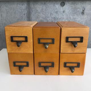 フェリシモ(FELISSIMO)のフェリシモ 木製 ミニドロワー 小物入れ 文房具入れ 収納ケース(小物入れ)