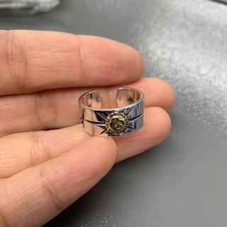 シルバー925 イーグル 太陽神リング  平打リング イーグル シルバーリング5(リング(指輪))