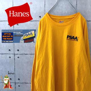 ヘインズ(Hanes)の【レア】Hanes ヘインズ 企業プリント 長袖 ロンT(Tシャツ/カットソー(七分/長袖))