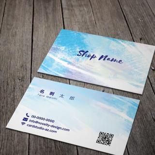 セミオーダー!プロのデザイナーが作る商業印刷の高品質名刺両面100枚/Y0072(オーダーメイド)