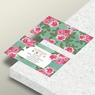 セミオーダー!プロのデザイナーが作る商業印刷の高品質名刺両面100枚/Y0073(オーダーメイド)