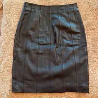 ロエベ(LOEWE)のLOEWE レザースカート (ひざ丈スカート)