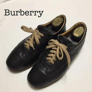 バーバリー(BURBERRY)のBurberry スニーカー 革 紐 茶(スニーカー)