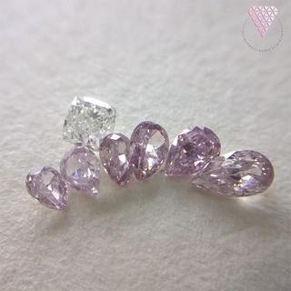 合計約 0.535 ct 天然 ピンク系 ダイヤモンド セット C(リング(指輪))