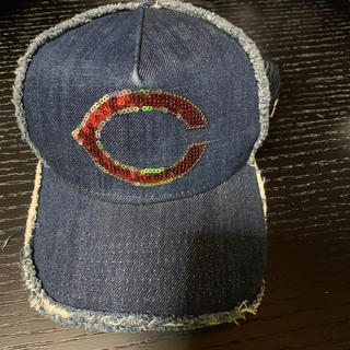 ニューエラー(NEW ERA)のカープ 帽子 キャップ ニューエラ NEWERA スパンコール デニム(応援グッズ)
