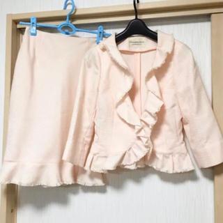 ストロベリーフィールズ(STRAWBERRY-FIELDS)のストロベリーフィールズ フリルジャケット スカート セットアップ(スーツ)