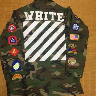 オフホワイト(OFF-WHITE)のオフホワイトミリタリージャケット(ミリタリージャケット)