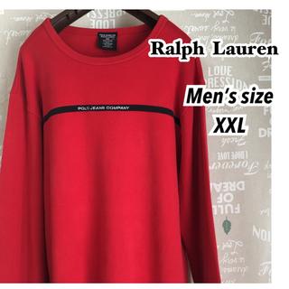 ラルフローレン(Ralph Lauren)の値下げ!メンズ古着・美品★ポロジーンズ・ラルフローレン カットソー  胸ロゴ刺繍(スウェット)