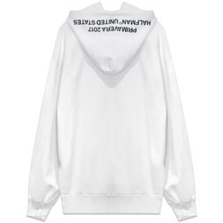 HALFMAN USA side slit pigment hoodie