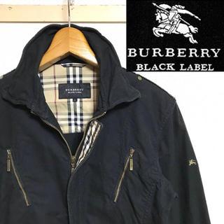 バーバリーブラックレーベル(BURBERRY BLACK LABEL)の希少!BURBERRYバーバリー ホースマーク  ノバチェック ライダースシャツ(ライダースジャケット)