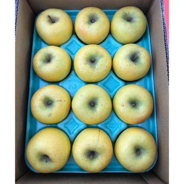【送料込】スマートフレッシュ 葉取らずりんごシナノゴールド約10Kg【農家直送】 食品/飲料/酒の食品(フルーツ)の商品写真