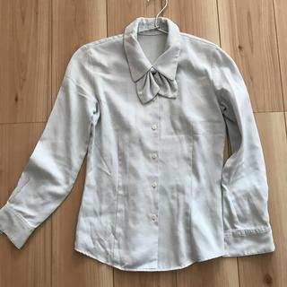 Rizal   事務服 制服  オフィス  ブラウス ブルー (シャツ/ブラウス(長袖/七分))