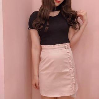ハニーシナモン(Honey Cinnamon)の値下げ♡縦フリル台形スカート(ミニスカート)