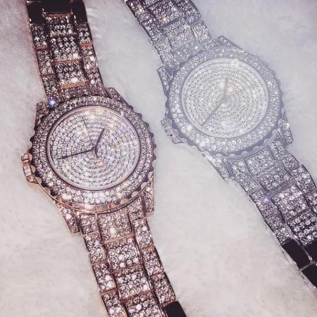 メンズ 腕 時計 ロレックス | インスタ映えキラキラ時計 ピンクゴールド ダイヤ ジルコニアの通販
