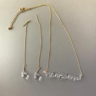 アダムエロぺ(Adam et Rope')のハリオ ガラス アクセサリー(ネックレス)