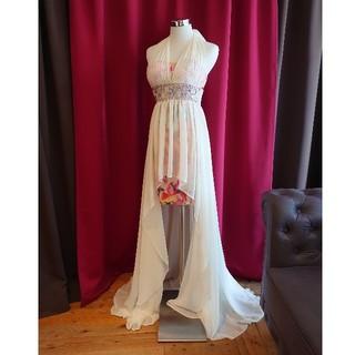 ジュエルズ(JEWELS)のJ1714 新品 S ロングドレス Jewels 花柄 インナーミニ シフォン(ロングドレス)