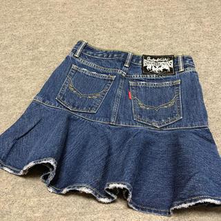 ロデオクラウンズ(RODEO CROWNS)のロデオクラウンズ デニム スカート フリル レディース XS 美品(ミニスカート)