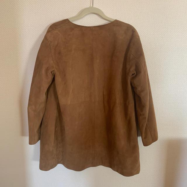 Plage(プラージュ)のplage プラージュ ラムスキン スウェード ジャケット レディースのジャケット/アウター(ノーカラージャケット)の商品写真