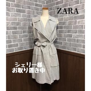 ザラ(ZARA)のZARA 新品タグ付き ワンピース ロングジャケット ロングカットソー2点(ひざ丈ワンピース)