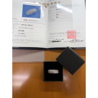 ☆Pt 2.00ct パヴェリング サイズ直しサービス☆(リング(指輪))